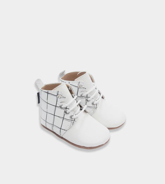 Ltl Big | Oxford Baby Boots | Milk Grid