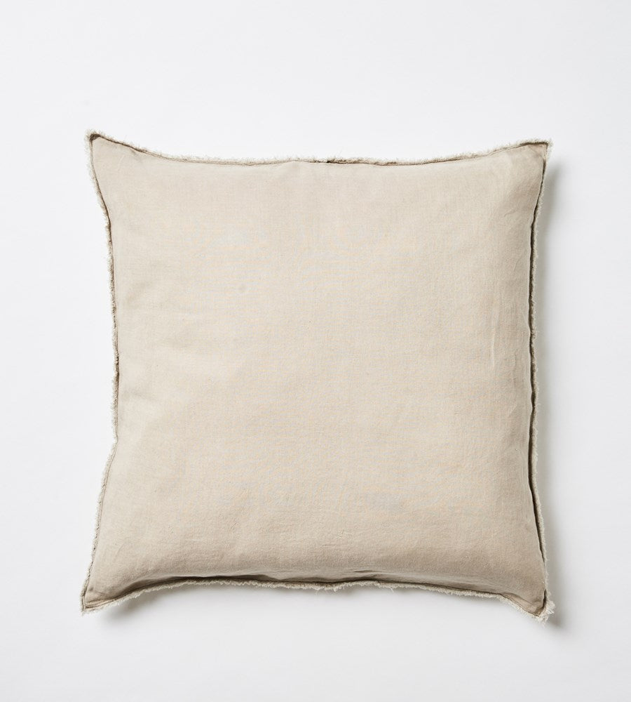 Keira Linen Euro Cushion | Wheat