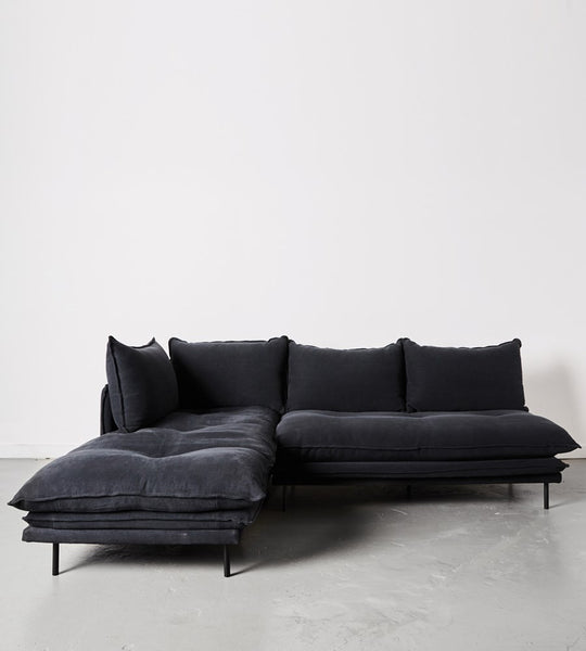 Lucas Sofa | Two Piece Modular | Black