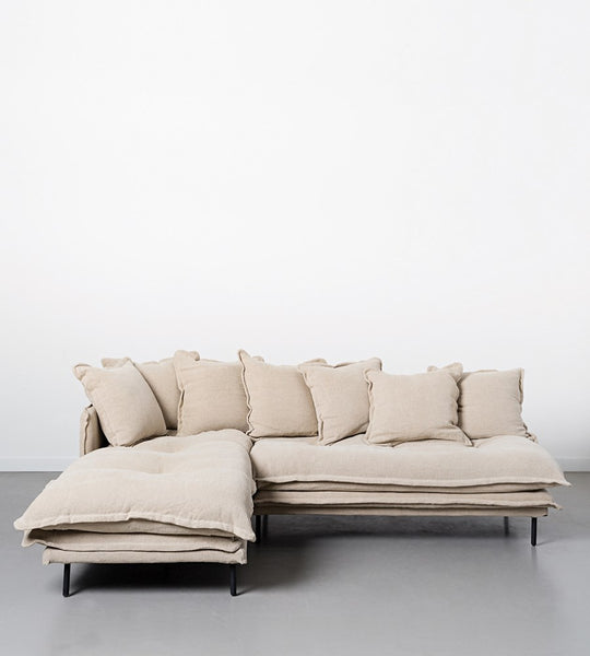 Marcello Sofa | Two Piece Modular | Linen