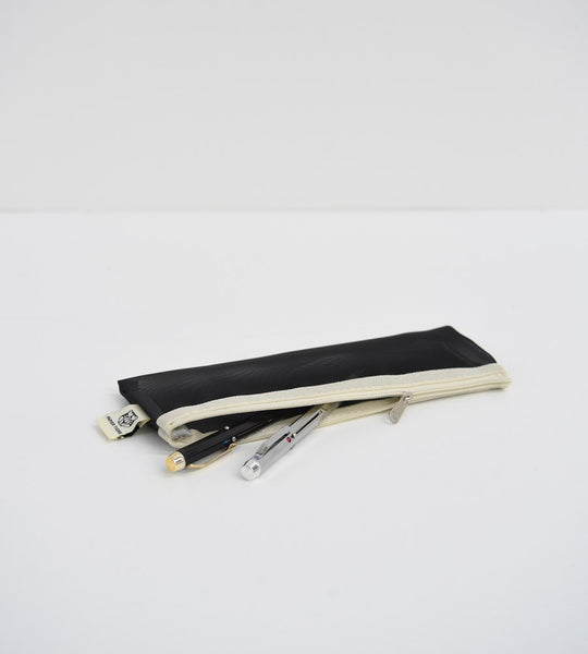Papier Tigre | Transparent Mesh Pencil Case | Black