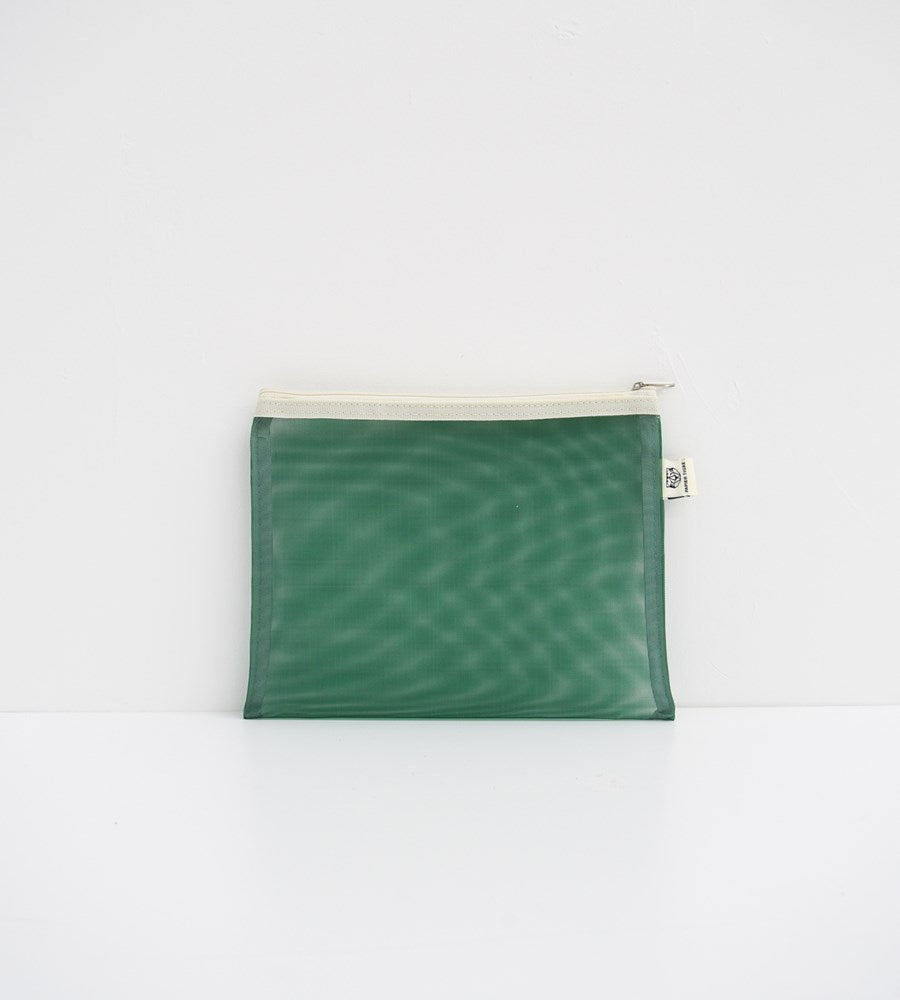 Papier Tigre | Transparent Mesh Pocket | Green