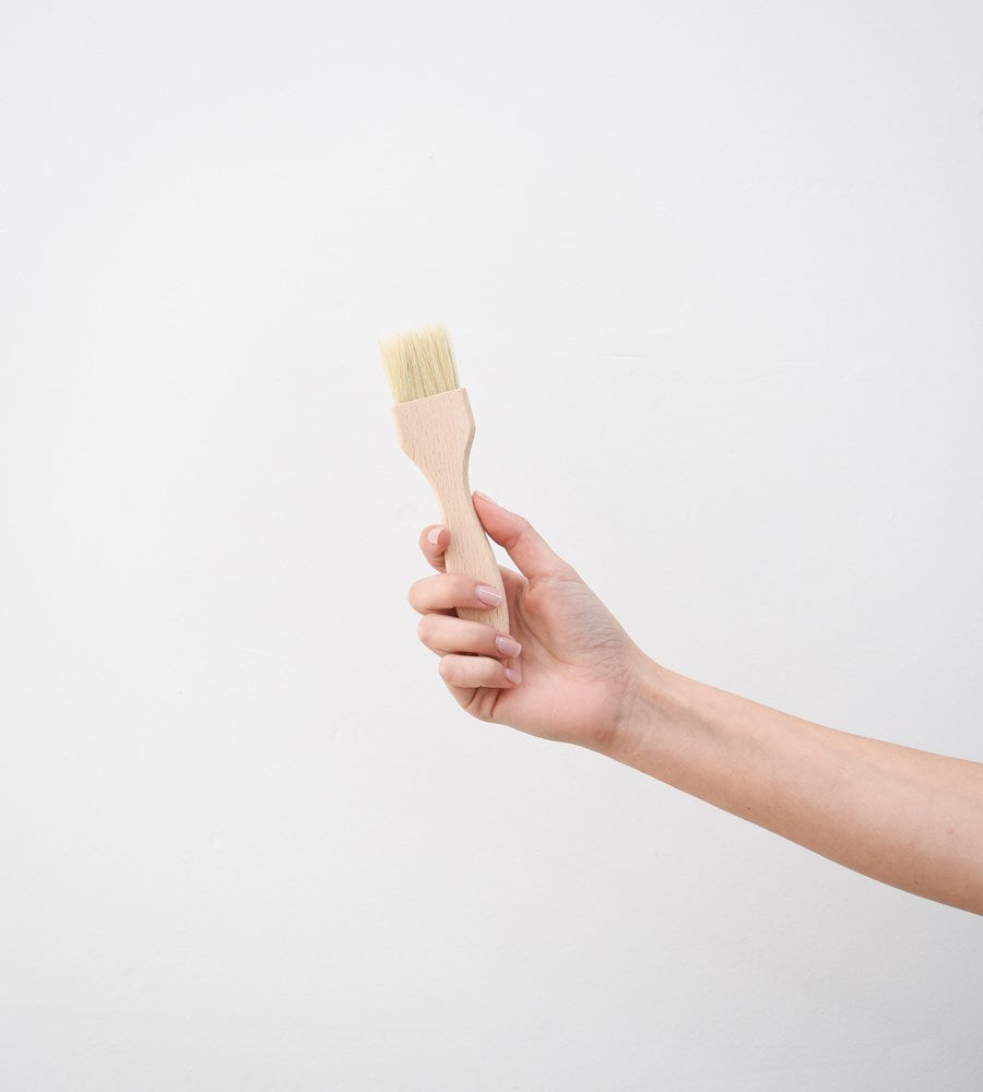 Pastry Brush with Flat Wooden Handle