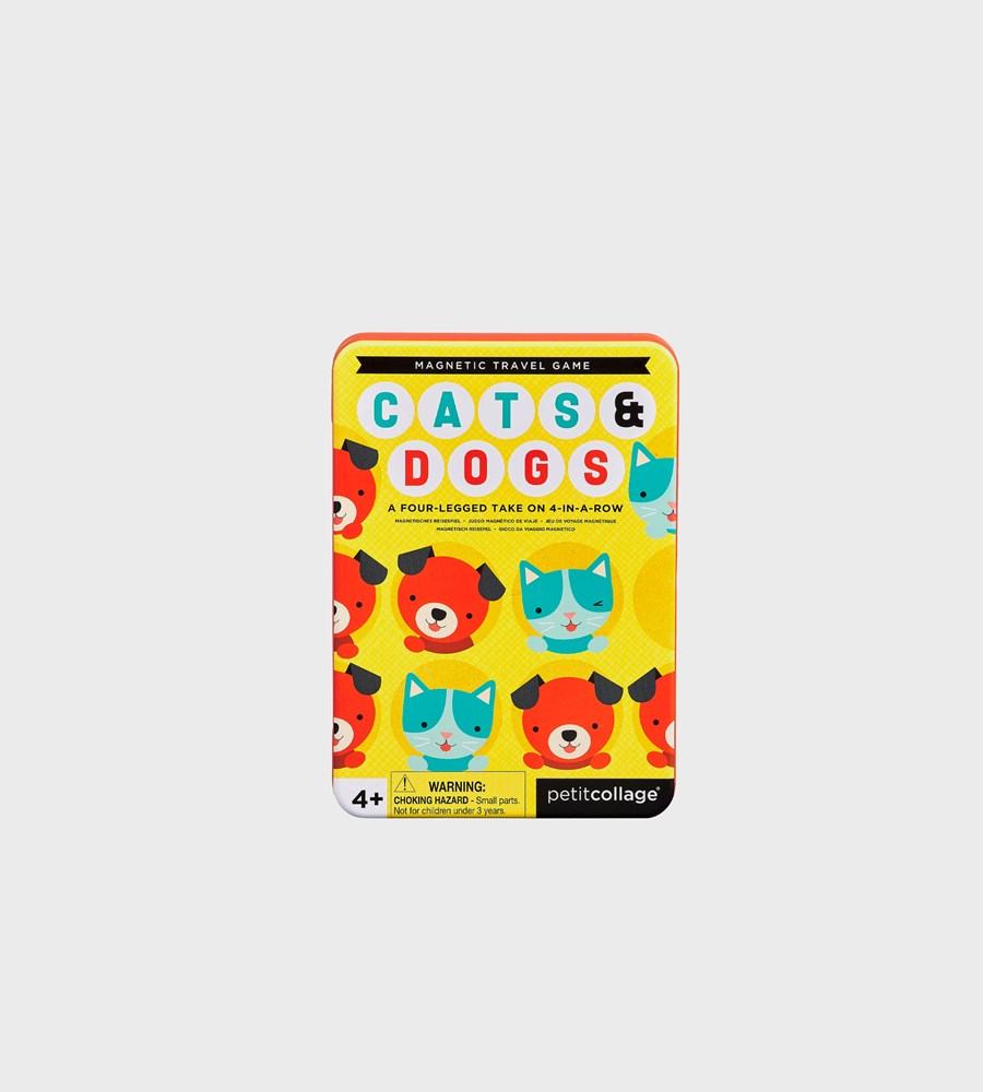 Petit Collage | Cats + Dogs Magnetic Travel Game