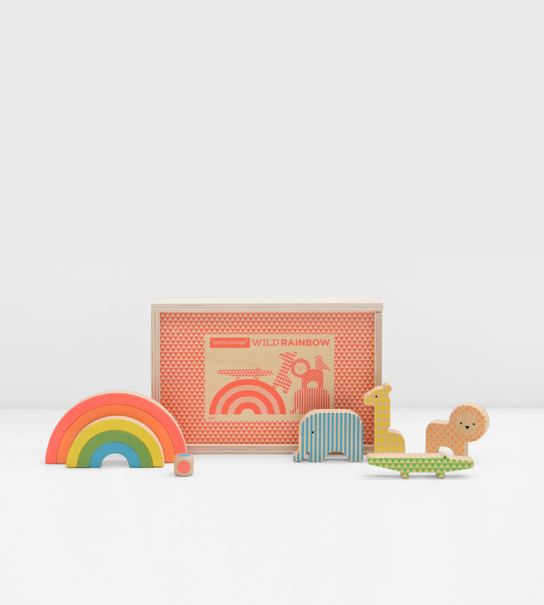 Petit Collage | Wild Rainbow | Wooden Game
