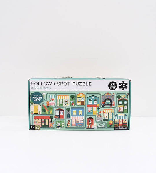 Petitcollage | Around Town | Follow & Spot Puzzle