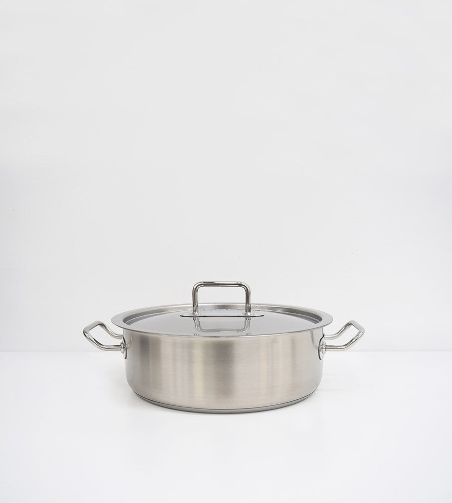 Pinti Inox | Master | Low Casserole with Lid Set