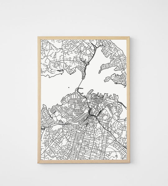 Poster | Map of Auckland | 50 x 70 cm