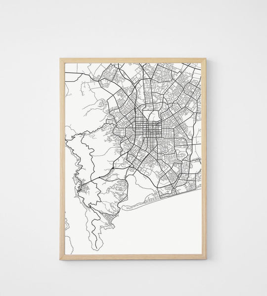 Poster | Map of Christchurch | 50 x 70 cm