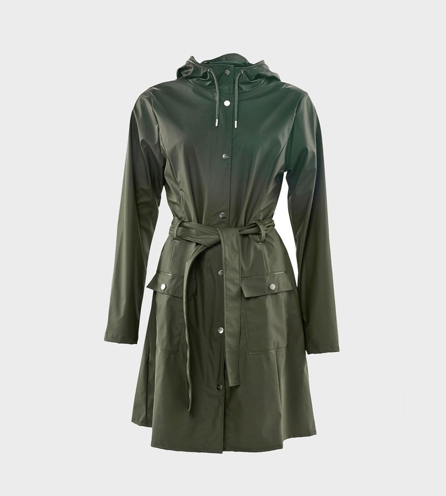 Rains Curve Jacket Green