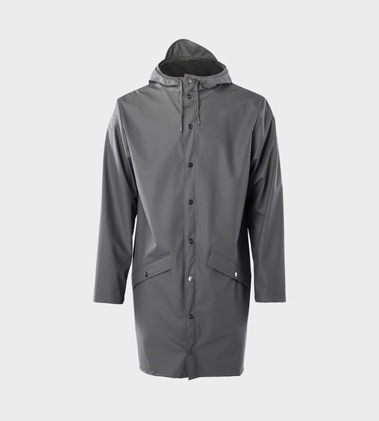 Rains Long Jacket | Charcoal