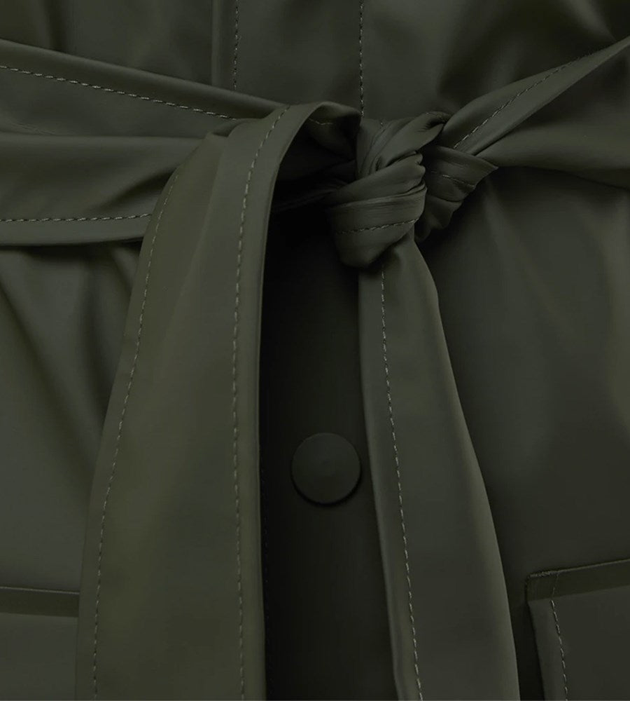 Rains | Belt Jacket | Green