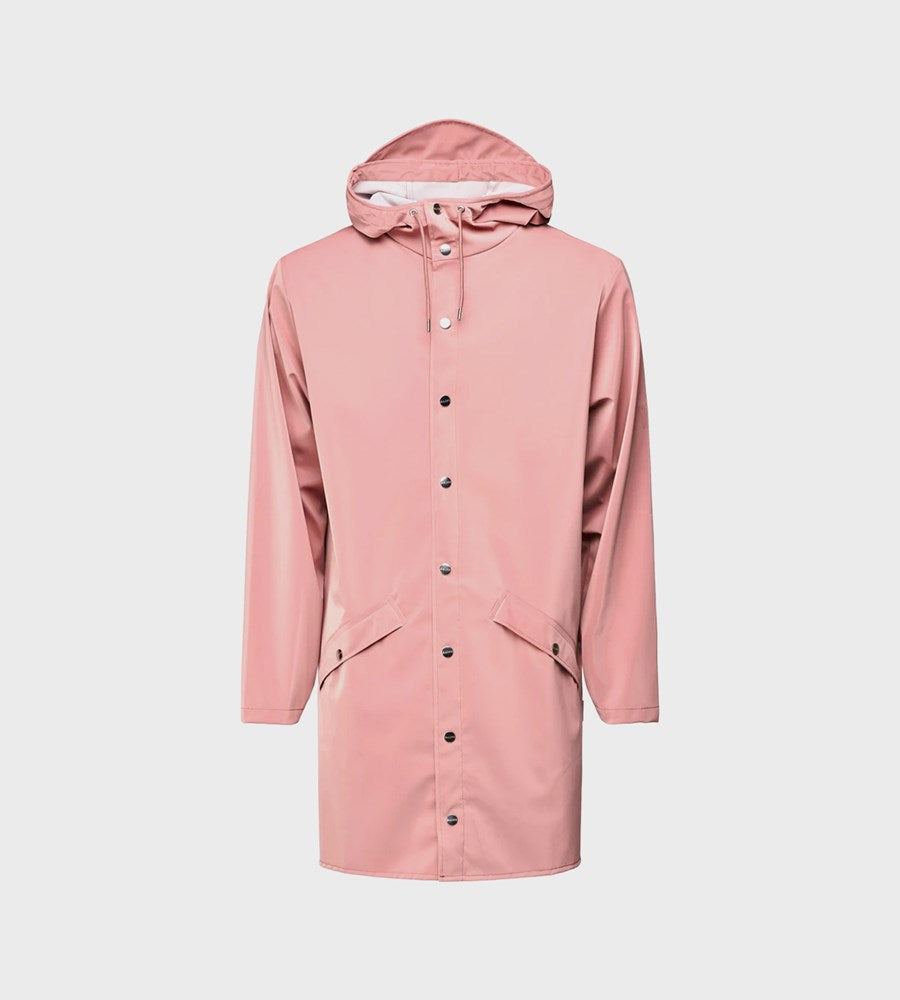 Rains Long Jacket | Blush