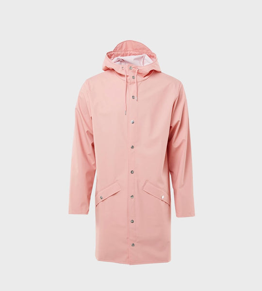 Rains Long Jacket | Coral