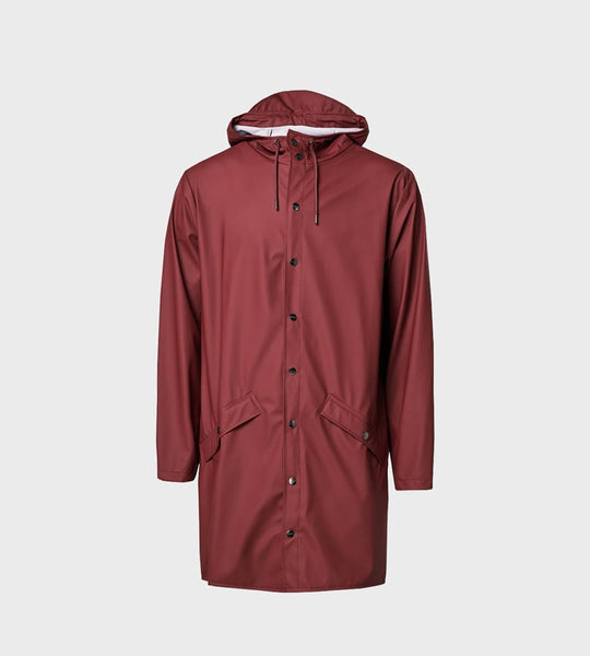 Rains Long Jacket | Maroon