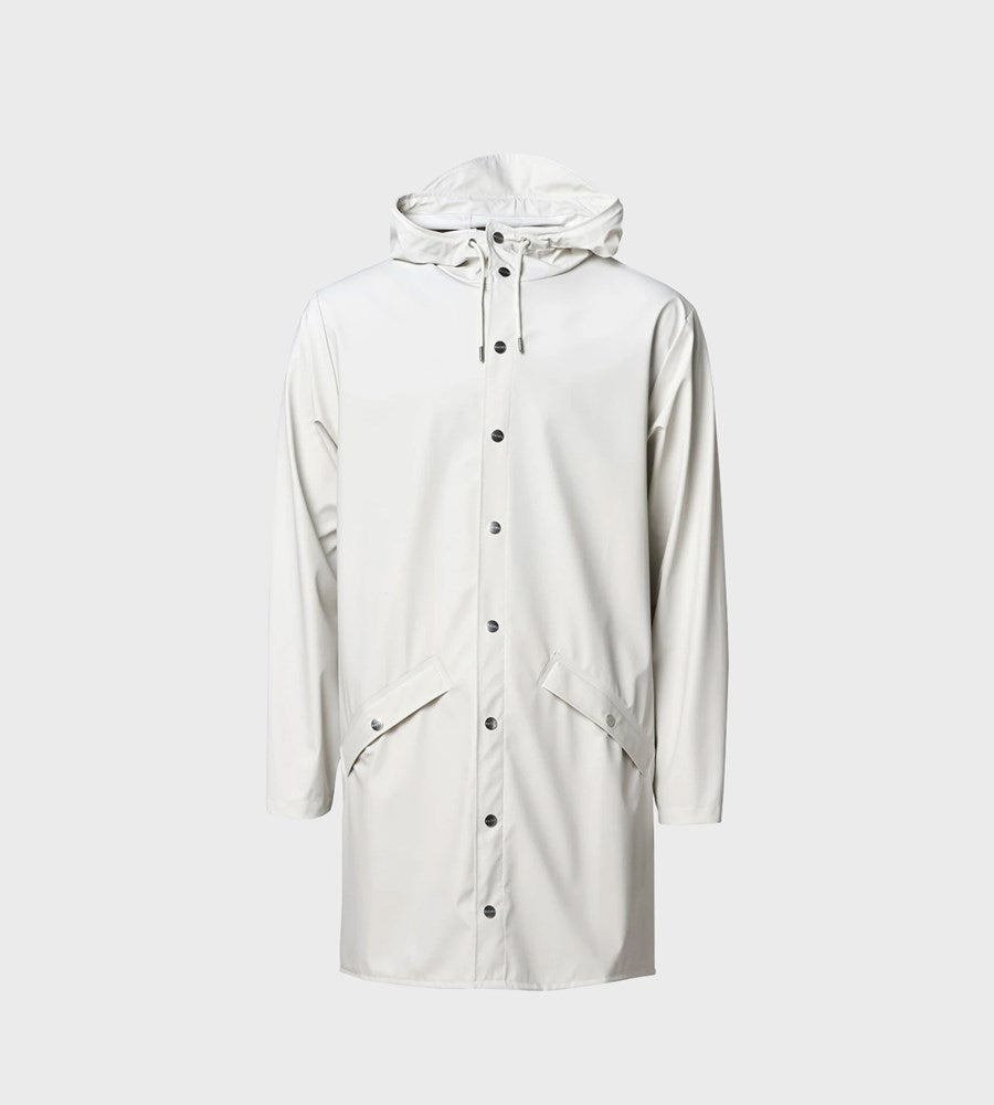 Rains Long Jacket | Off White