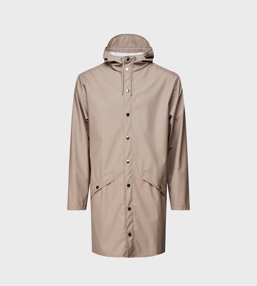 Rains Long Jacket | Taupe