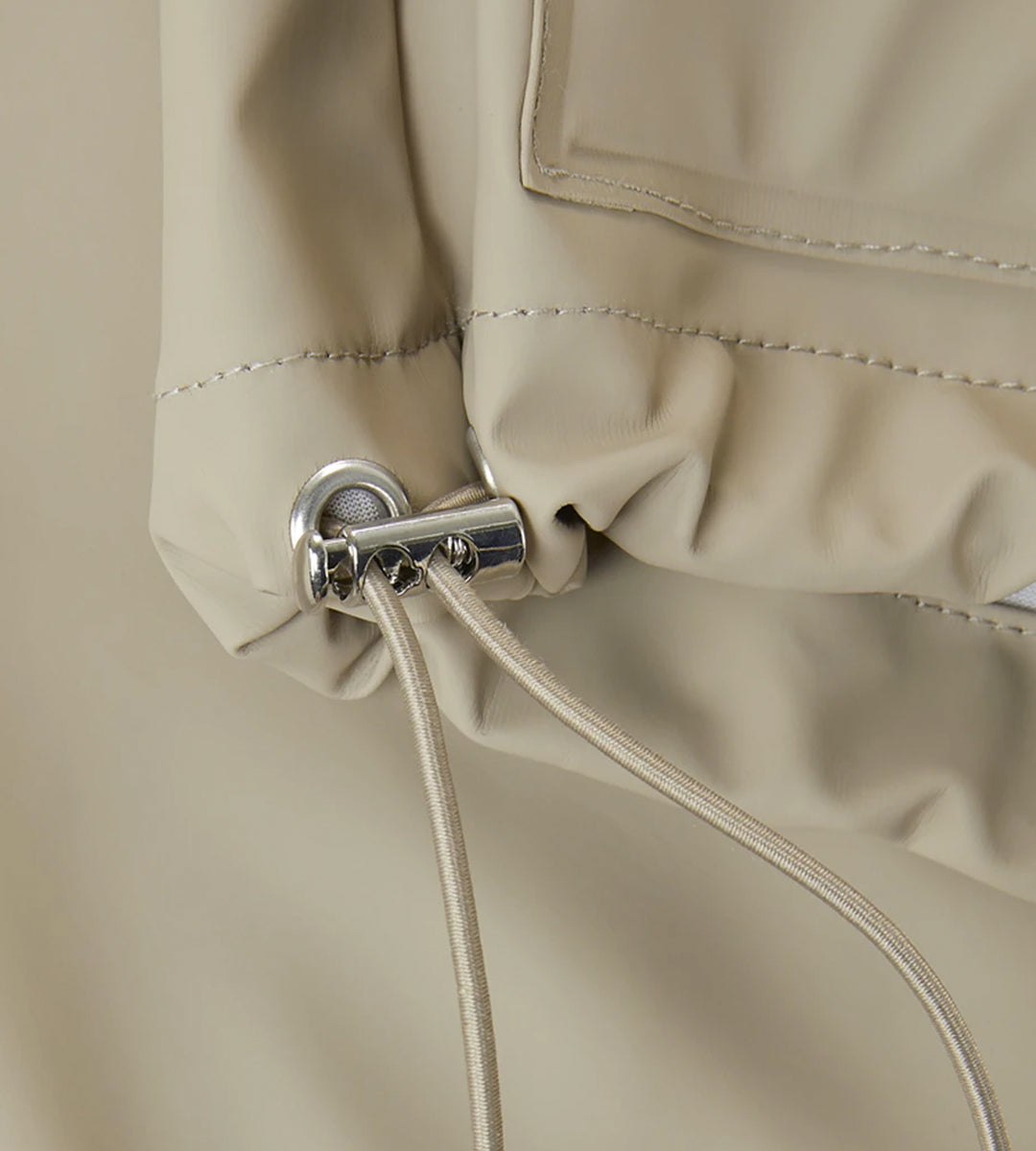 Rains Short Hooded Coat | Beige