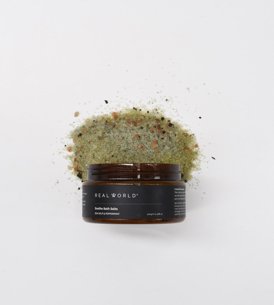 Real World Soothe Bath Salts Sea Kelp & Peppermint