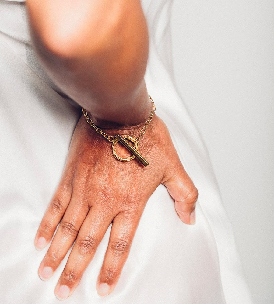 Released From Love | Oversize Fob Bracelet | Gold Vermeil