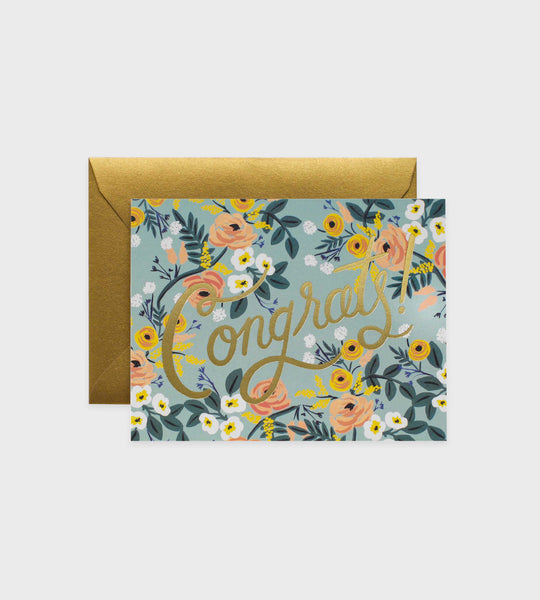 Rifle Paper Co. | Blue Meadow Congrats Card
