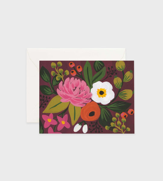Rifle Paper Co. | Botanical Blossoms Burgundy Card