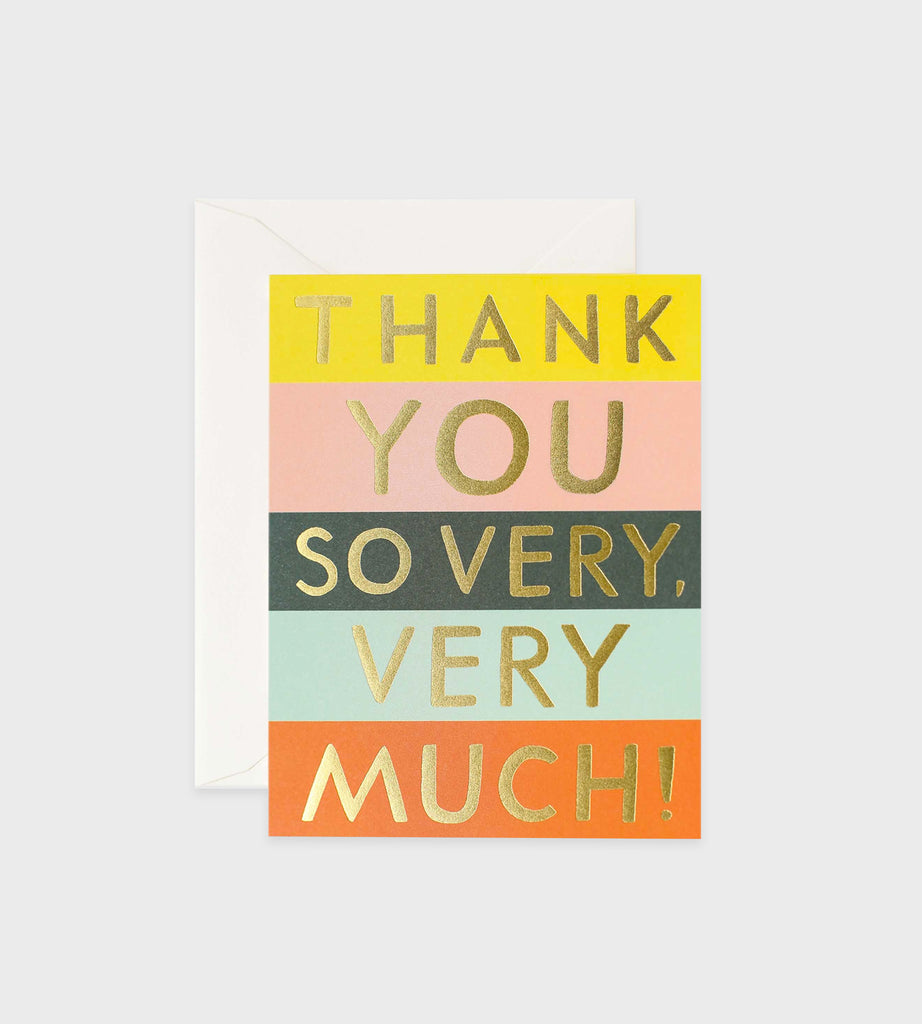 Rifle Paper Co. | Colour Block Thank You Card