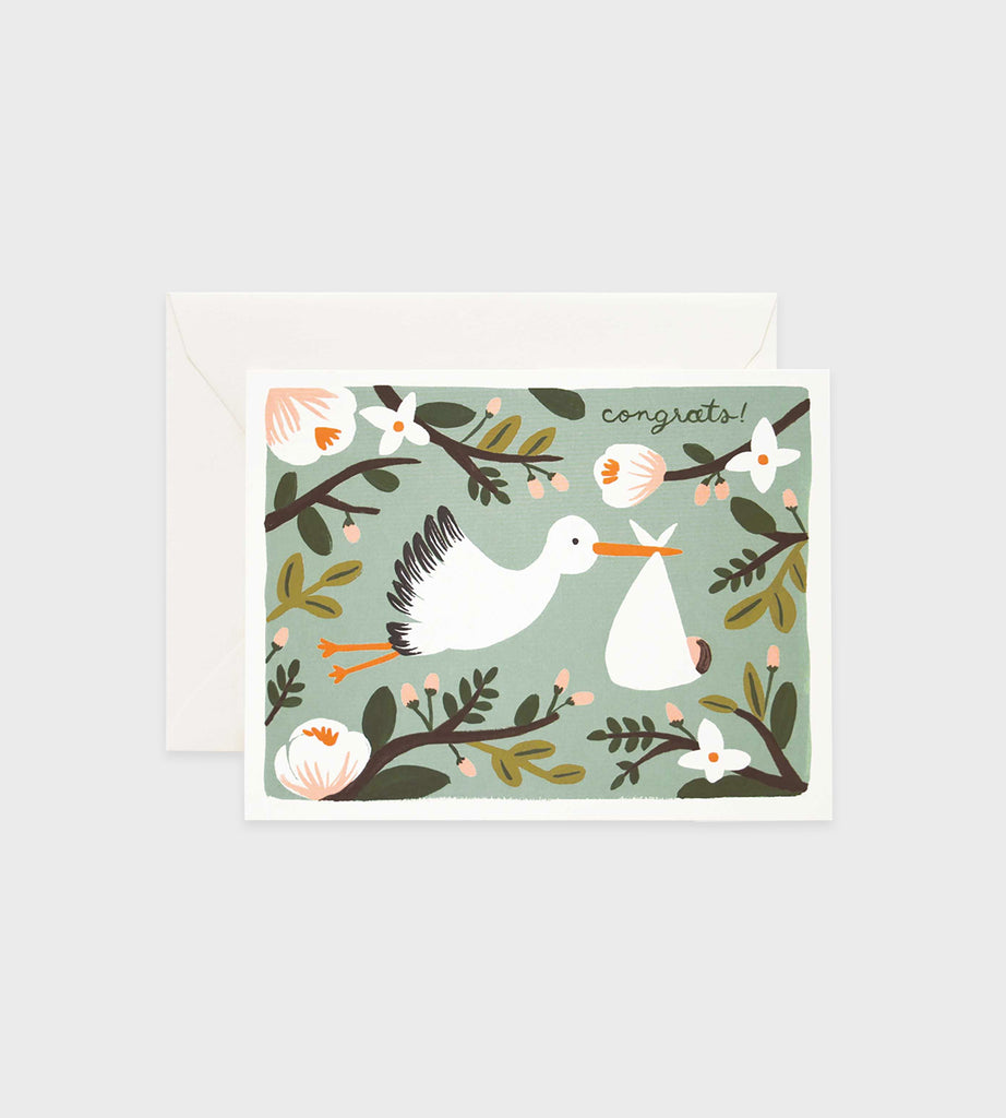 Rifle Paper Co. | Congratulations Stork Card