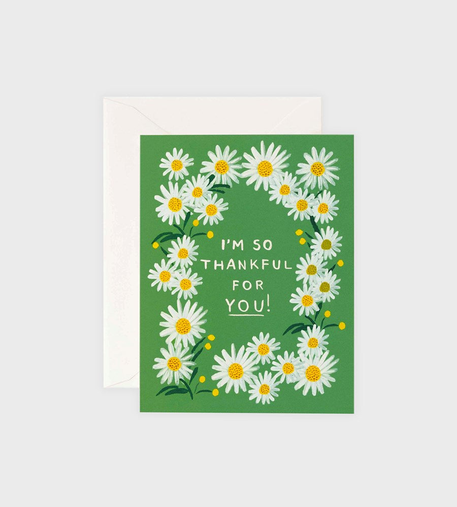 Rifle Paper Co. | Daises Thankful for You Card