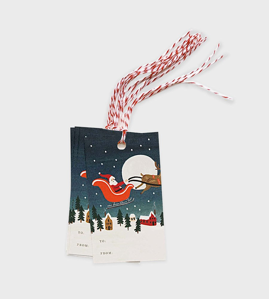 Rifle Paper Co. | Gift Tag | Santa's Sleigh | Set of 10