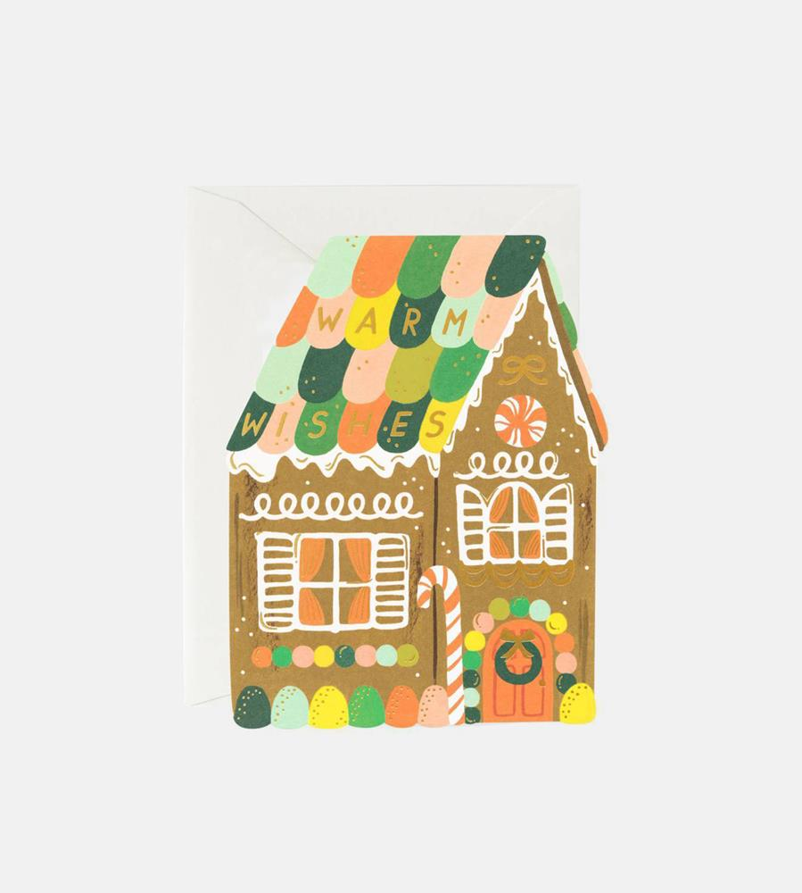 Rifle Paper Co. | Gingerbread House Card
