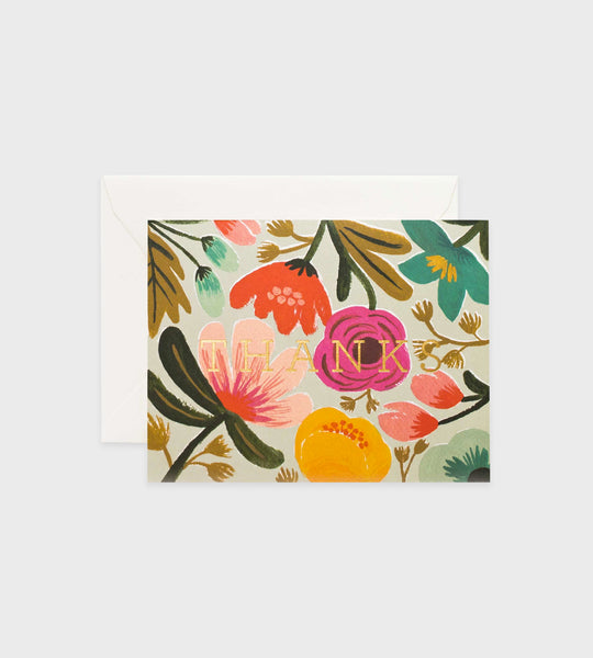 Rifle Paper Co. | Gold Floral Thank You Card