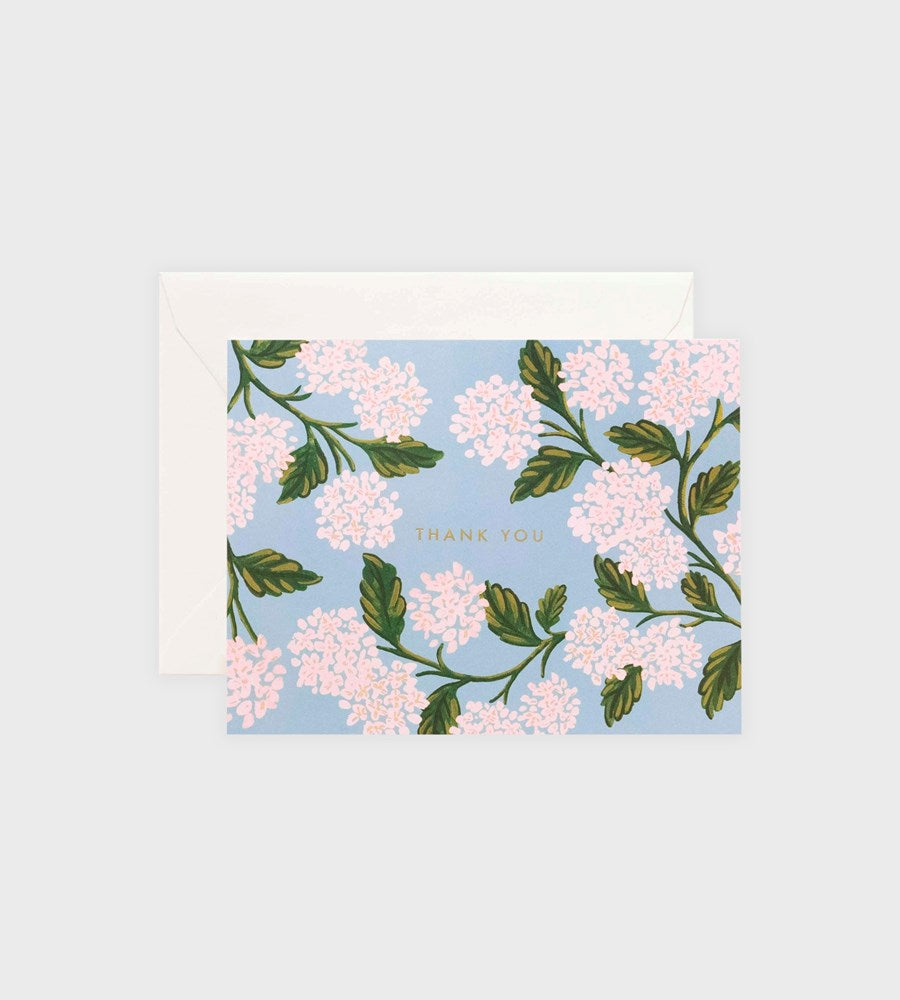 Rifle Paper Co. | Hydrangea Thank You Card