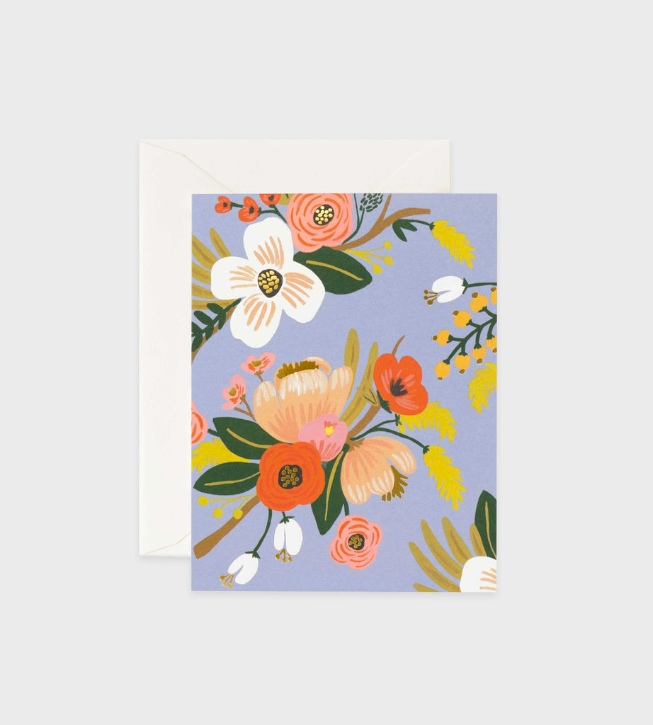 Rifle Paper Co. | Lively Floral Periwinkle Card