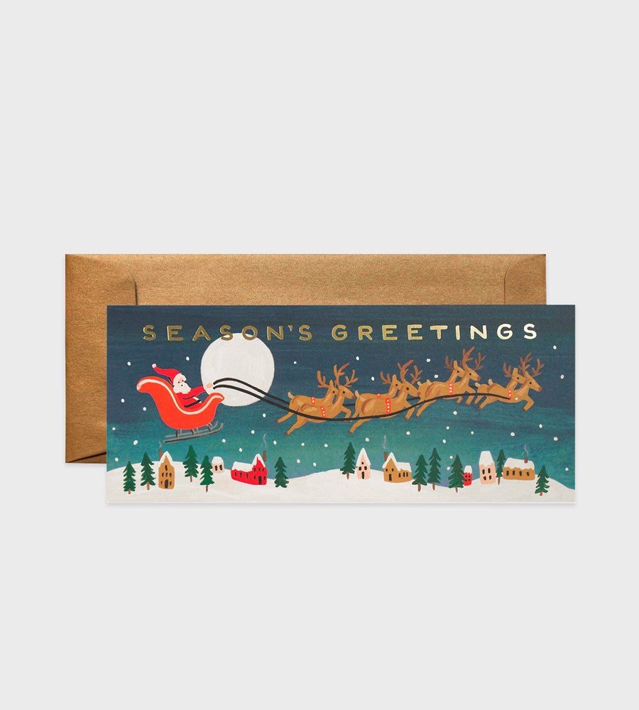 Rifle Paper Co. | Santa's Sleigh Long Card