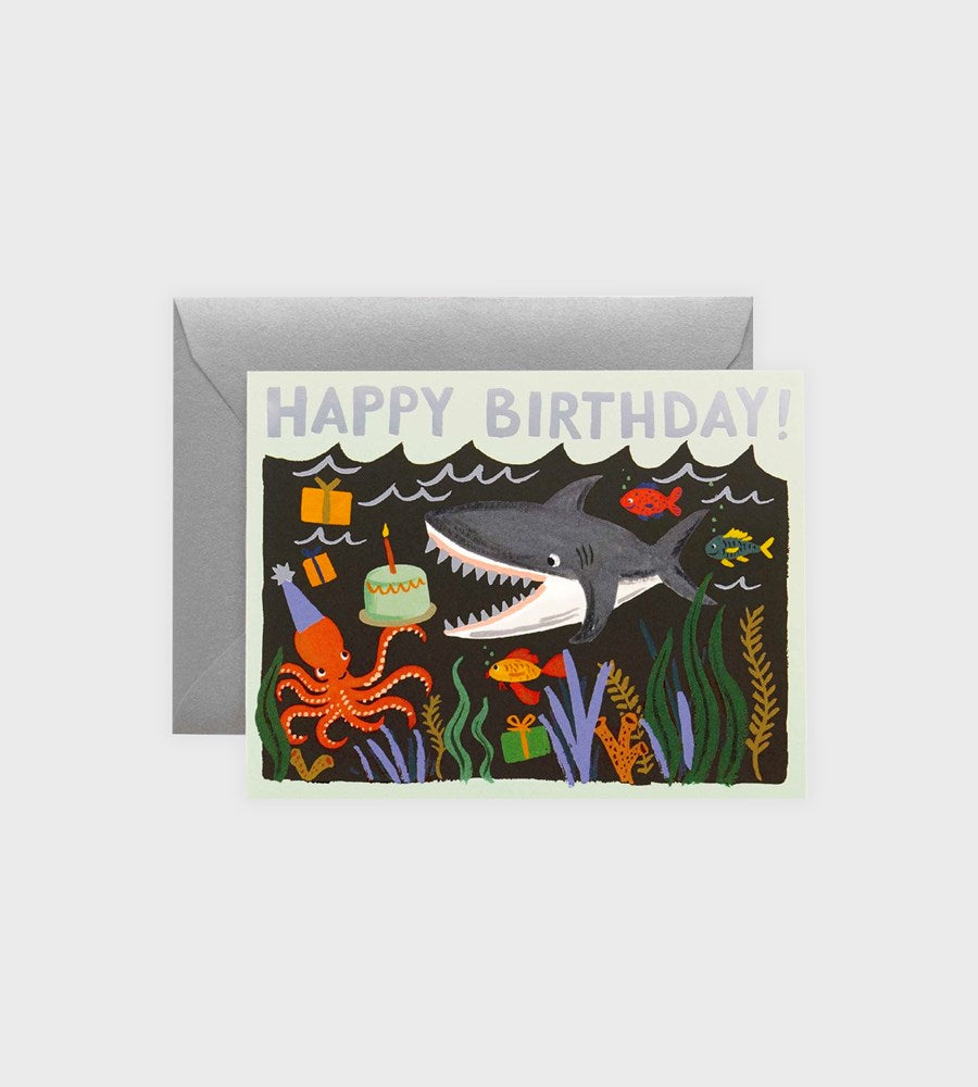 Rifle Paper Co. | Shark Birthday Card
