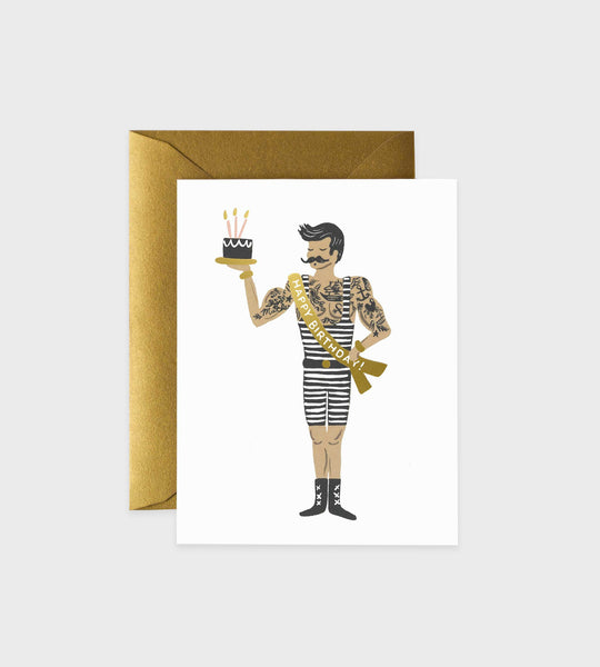 Rifle Paper Co. | Strongman Birthday Card