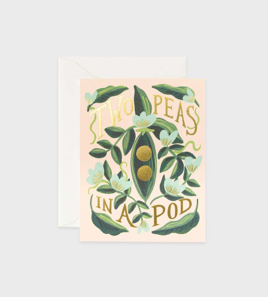 Rifle Paper Co. | Two Peas in a Pod Card