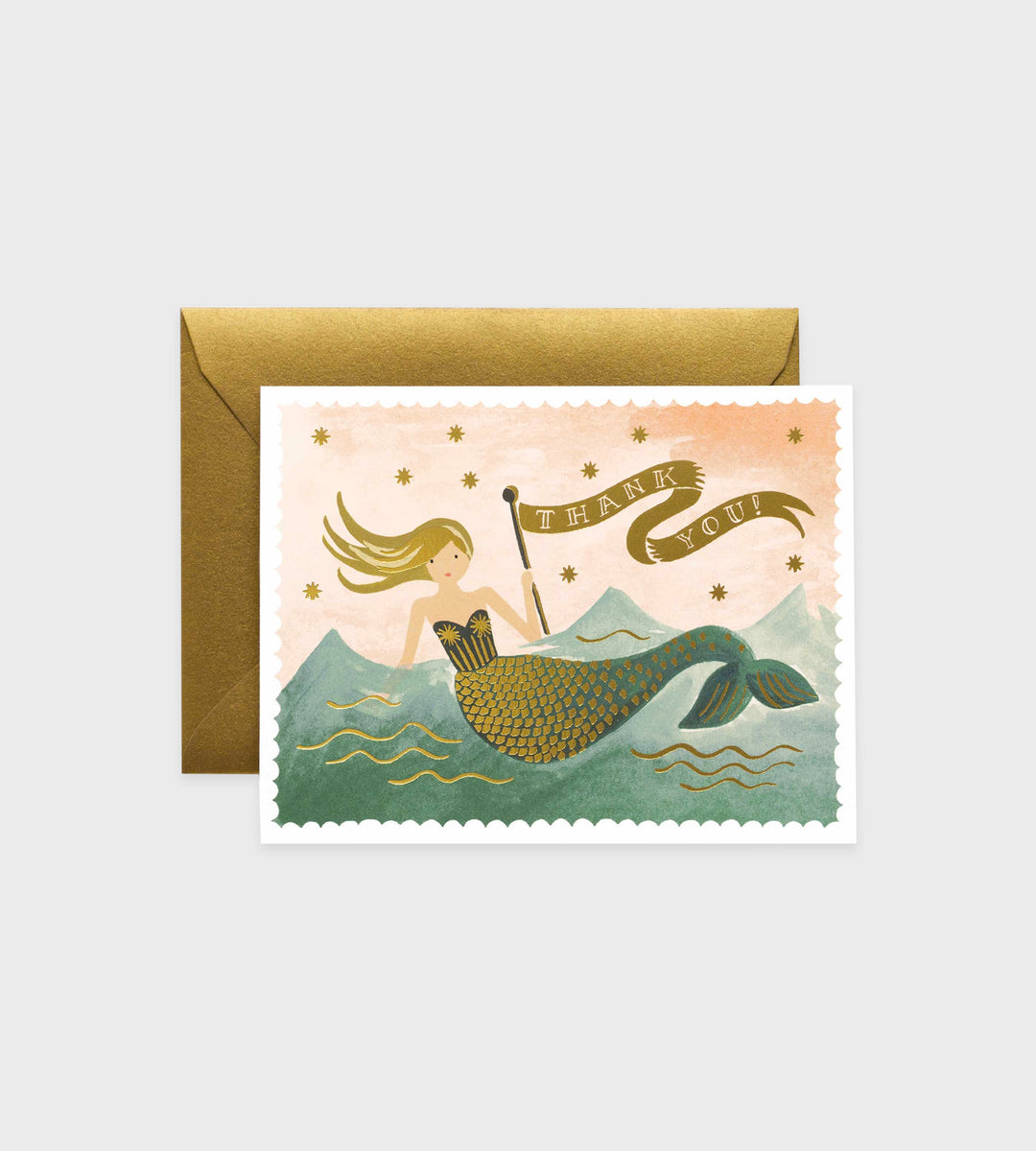 Rifle Paper Co. | Vintage Mermaid Thank You Card