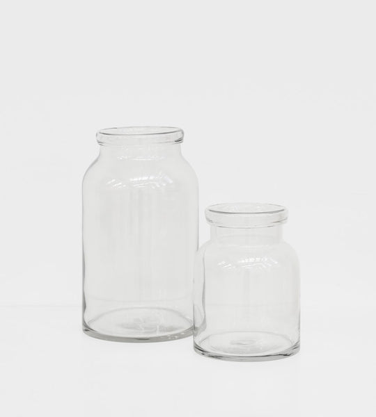 Roll Top Glass Jar