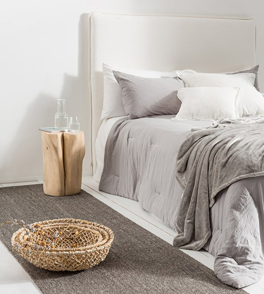 Serra Microfibre Quilt & Pillowcase Set | Light Grey