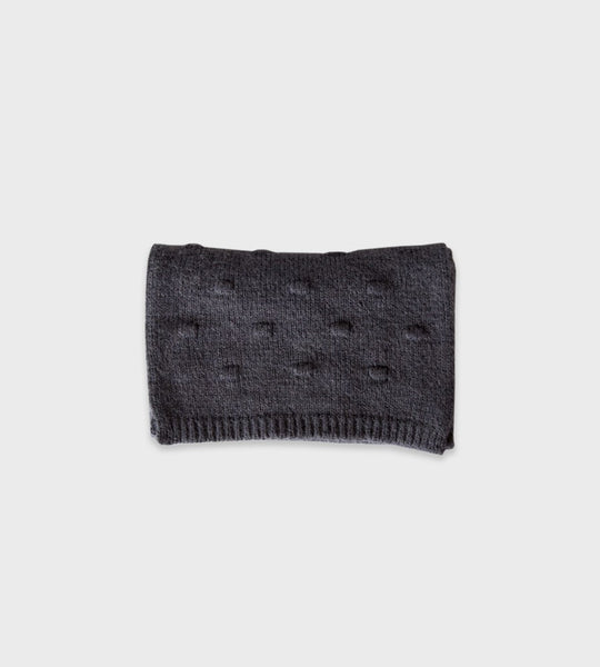 Sophie | Bobble Knit Scarf | Charcoal