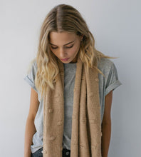 Sophie | Bobble Knit Scarf | Wheat
