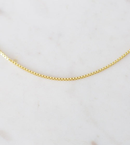 Sophie | Box Chain Necklace | Gold