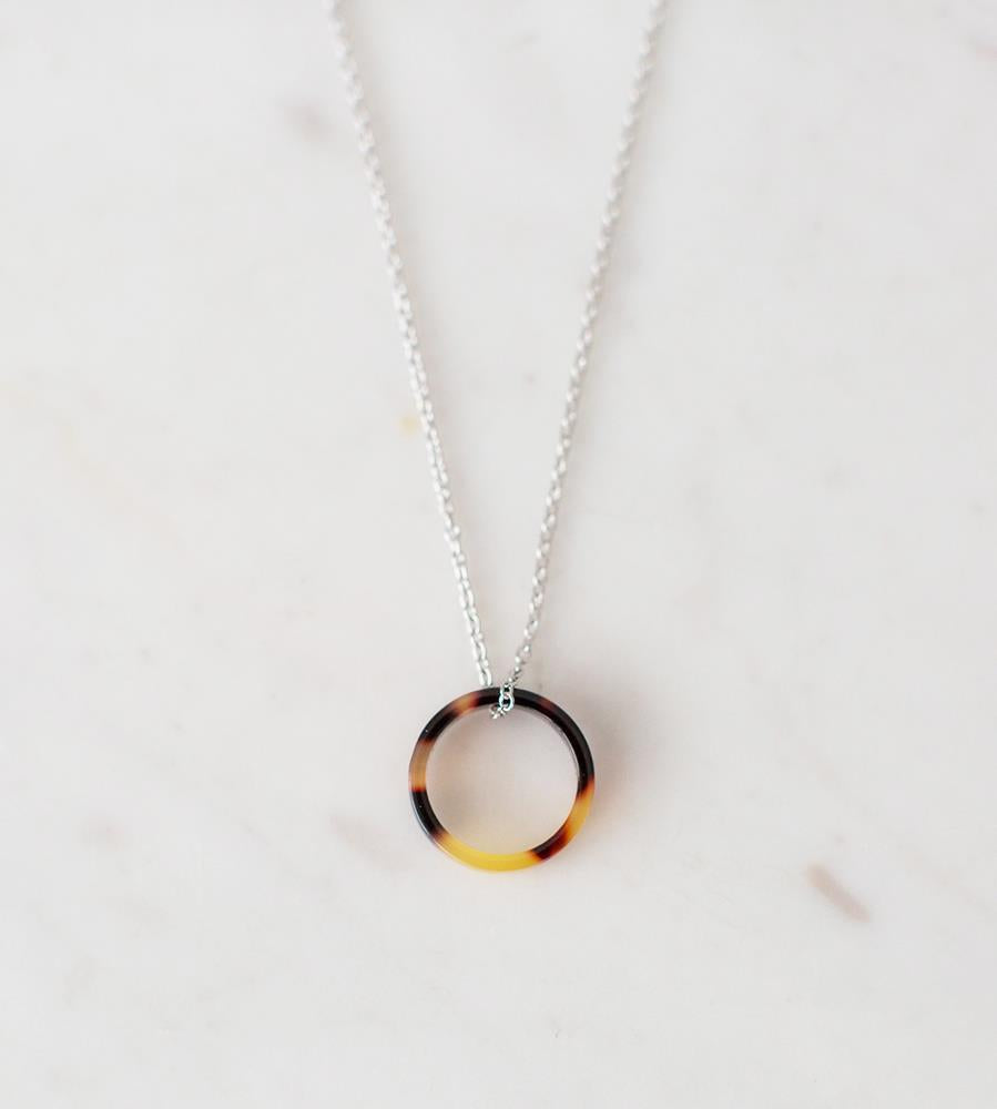 Sophie | Little Tort Necklace | Dark | Silver