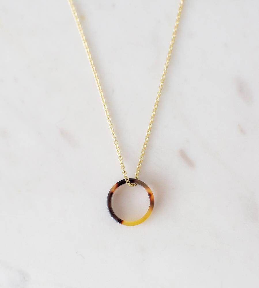 Sophie | Little Tort Necklace | Dark | Gold