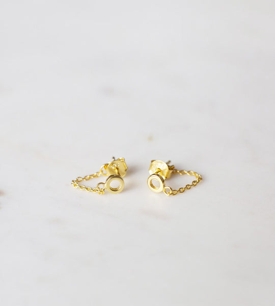 Sophie | Oh My Chain Studs Earrings | Gold