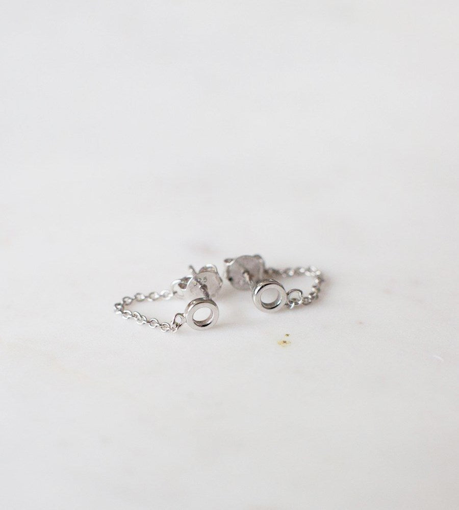 Sophie | Oh My Chain Studs Earrings | Silver