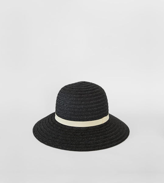 Sophie | So Shady Ribbon Hat | Black with Putty