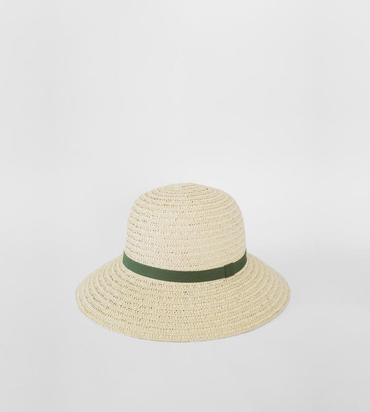 Sophie | So Shady Ribbon Hat | Ivory with Sage